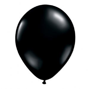 "9"" Black Balloons - Qualatex Latex Balloons 